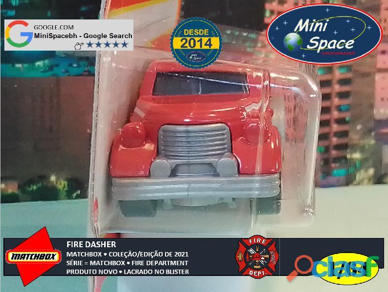 Matchbox Fire Dasher Bombeiro cor Vermelho 1/64 11
