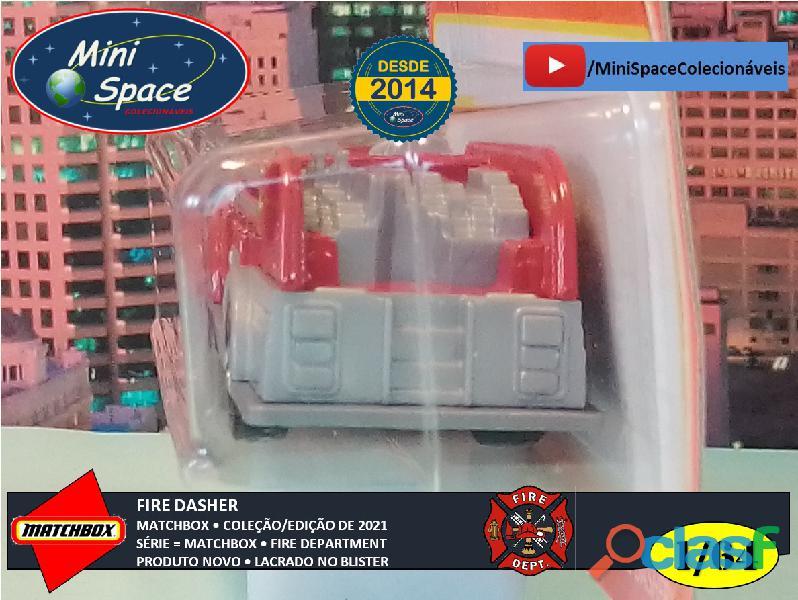 Matchbox Fire Dasher Bombeiro cor Vermelho 1/64 10