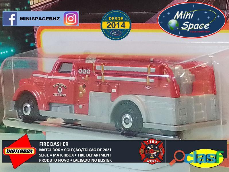 Matchbox Fire Dasher Bombeiro cor Vermelho 1/64 9