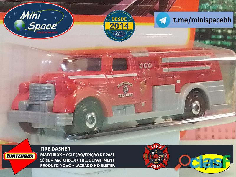 Matchbox Fire Dasher Bombeiro cor Vermelho 1/64 8