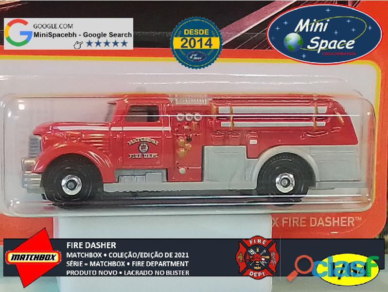 Matchbox Fire Dasher Bombeiro cor Vermelho 1/64 7