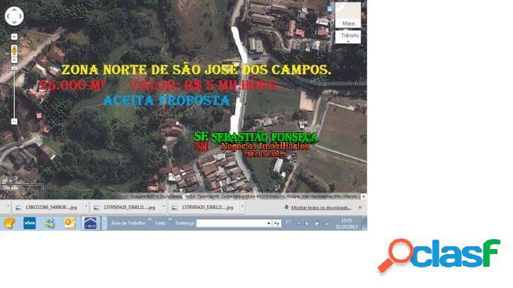Área para construtora - 25 mil m² - zona norte