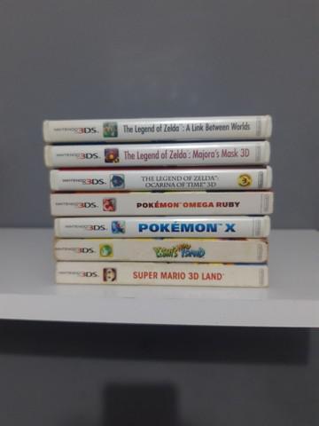 Jogos nintendo 3ds (pokémon, zelda entre outros)
