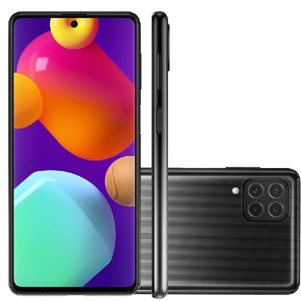"Smartphone samsung galaxy m62 preto 128 gb 6.7"" 8 gb ram"
