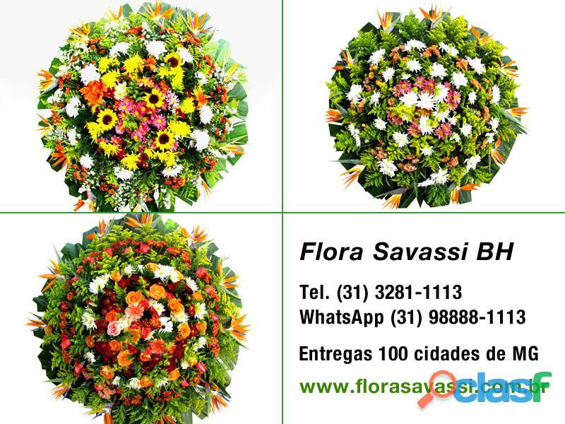 Coroas de flores cemitério municipal santo antônio em pará de minas, floricultura entrega coroas