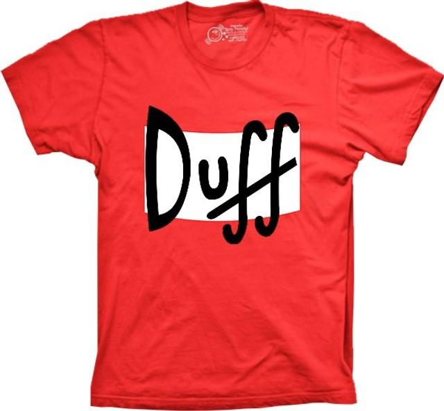 Camisa camiseta duff desenho infantil adulto simpson