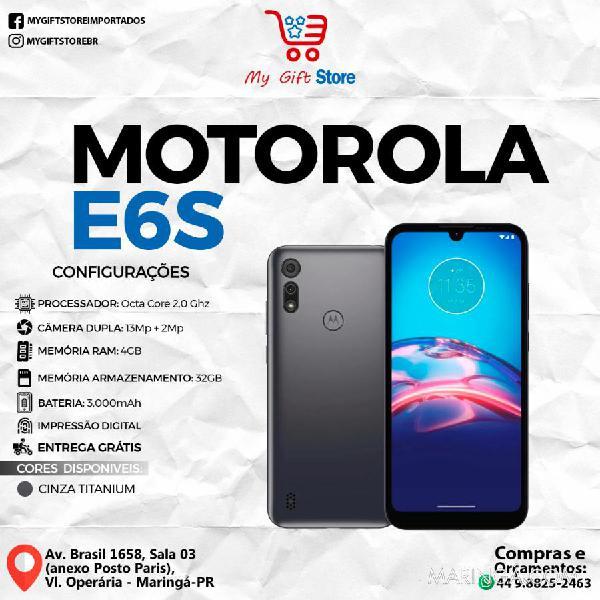 Smartphone motorola e6s cinza titanium dual sim 32 gb 4 gb