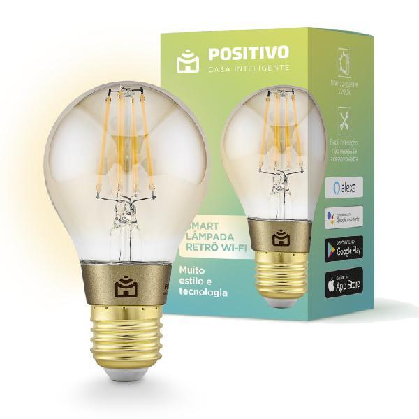 Lâmpada led inteligente retrô positivo home smart wifi 7w