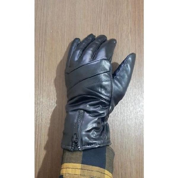 Luva couro sintético para moto motoboy motoqueiro