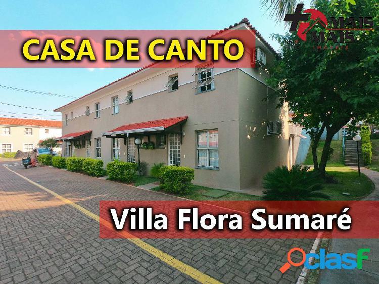 Casa de canto esquina 2 com quartos ampliável para 3 villa flora sumaré