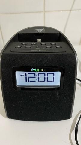 Rádio estéreo dock ihome ipl22 conector lightning p/iphone