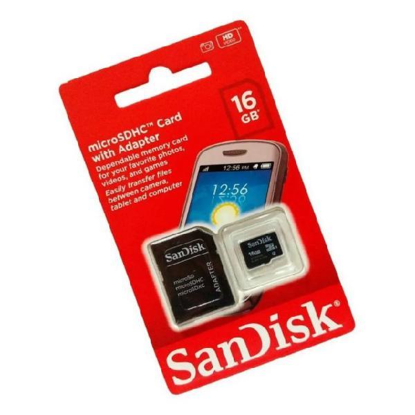 Cartão memória sandisk micro sd 16 gb