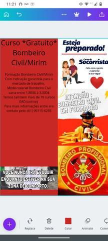 Curso *gratuito* bombeiro civil