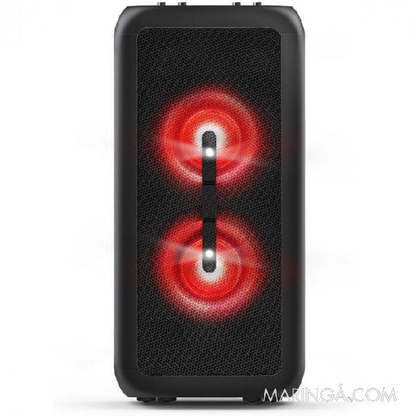 Caixa de som party speaker bluetooth led/usb/auxiliar 80w