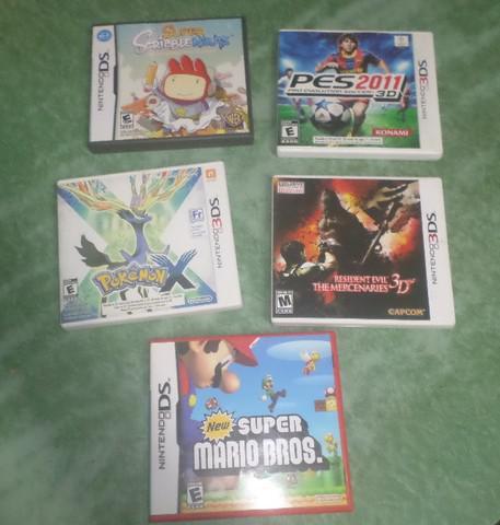 Lote de caixas originais de jogos para nintendo ds / 3ds
