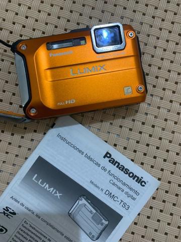 Máquina fotográfica panasonic dmc ts3 para mergulho e