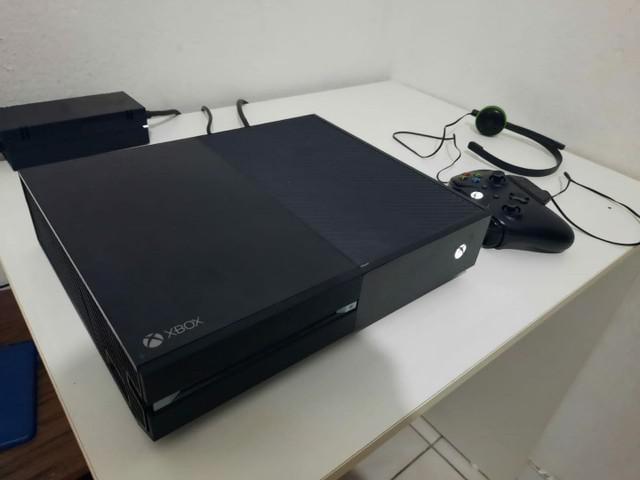 Xbox one 500gb jogos e headset