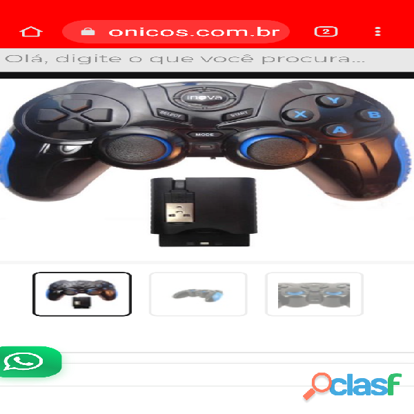 Controle Wireless PC Windows Android PS1 PS2 PS3