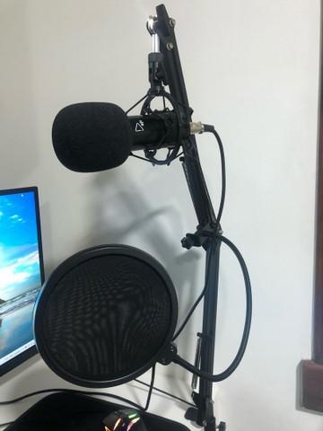 Kit completo ejz microfone bm-800 c/suporte e phantom power