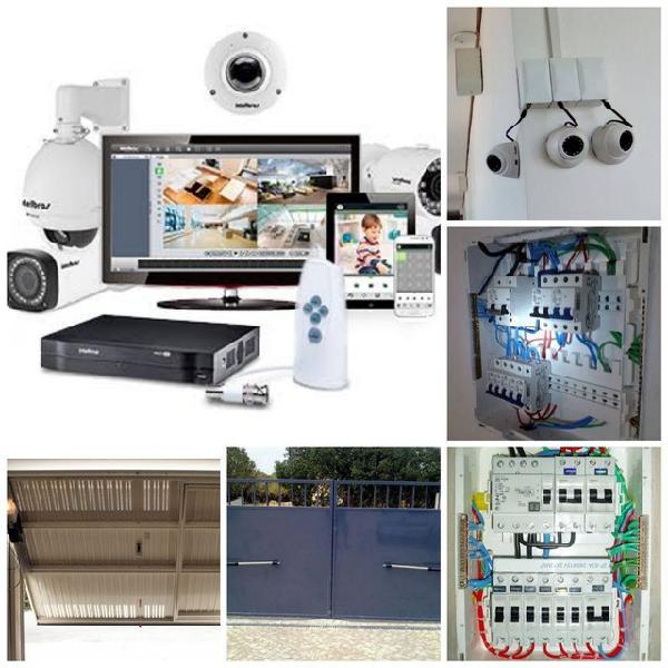 Câmeras e motor para portões