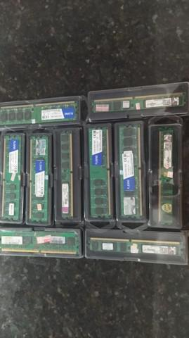 Lote de 10 memórias ddr2 2gb 800 mhz*