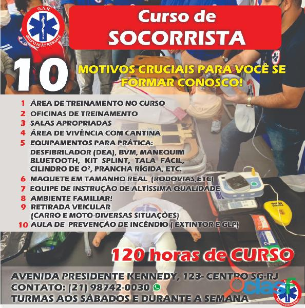 Curso de socorrista APH em São Gonçalo