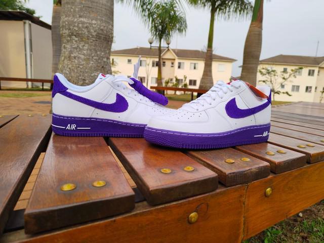Nike air force 1 white court purple 41