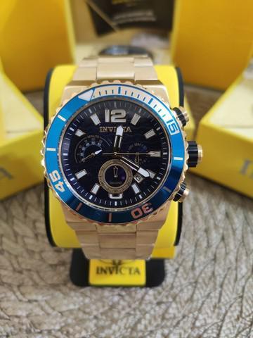Relógio invicta original banhado a ouro 18k
