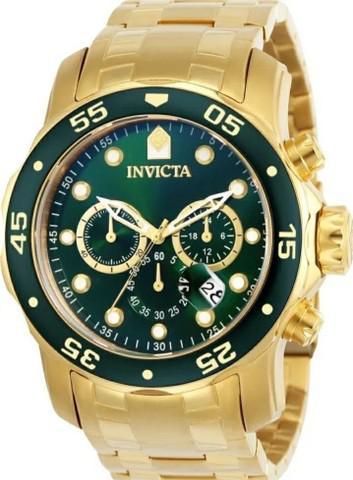 Relógio invicta original banhado a ouro 18k novo caixa nota