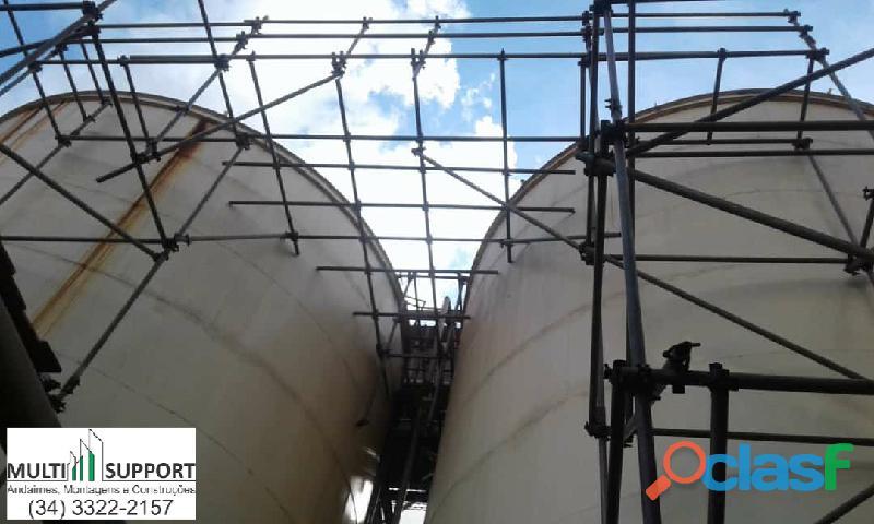 Locação e montagem de andaimes industriais valparaíso de goias go
