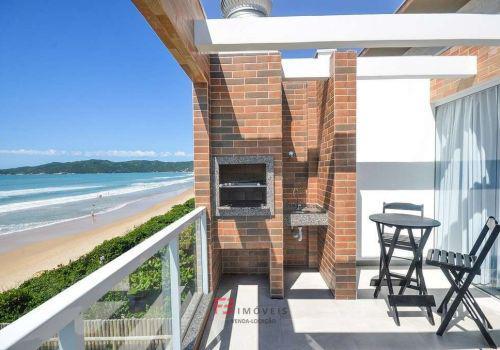 Apartamento frente mar com vista praia mariscal sc