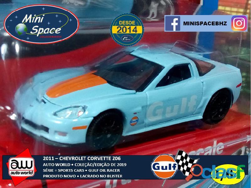 Auto World 2011 Corvette Z06 azul Gulf Oil Racer 1/64 2