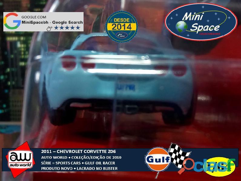 Auto World 2011 Corvette Z06 azul Gulf Oil Racer 1/64 3