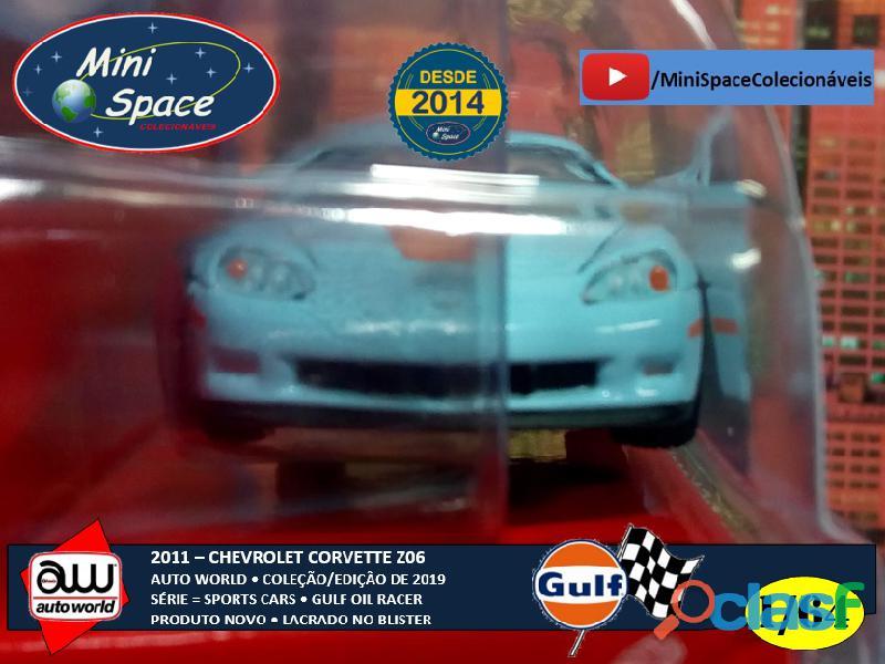 Auto World 2011 Corvette Z06 azul Gulf Oil Racer 1/64 4