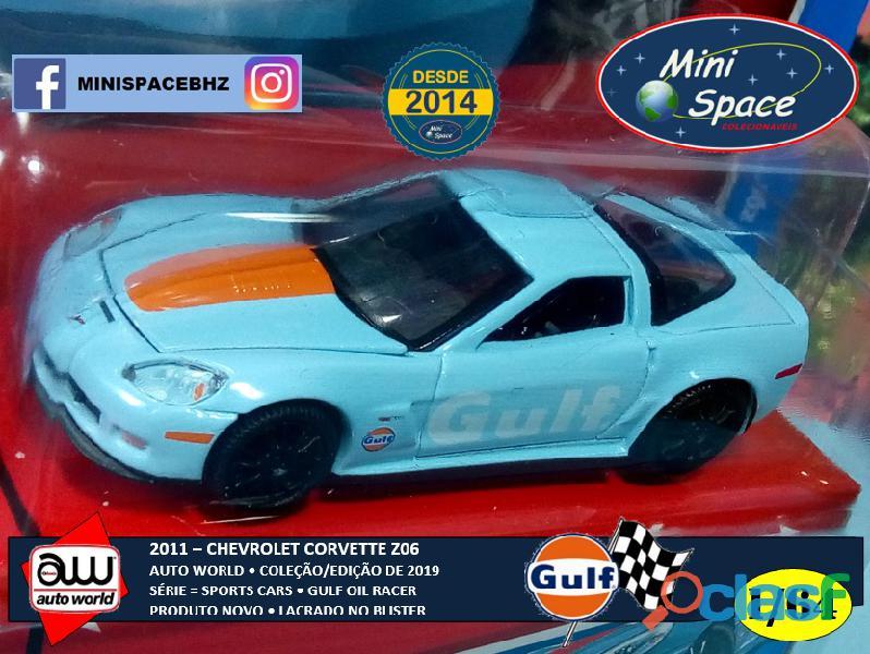 Auto World 2011 Corvette Z06 azul Gulf Oil Racer 1/64 5