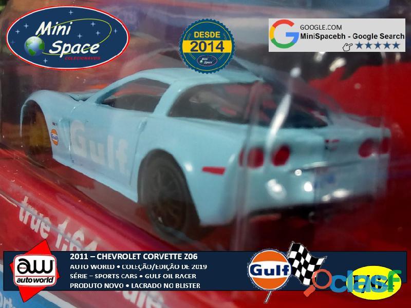 Auto World 2011 Corvette Z06 azul Gulf Oil Racer 1/64 6