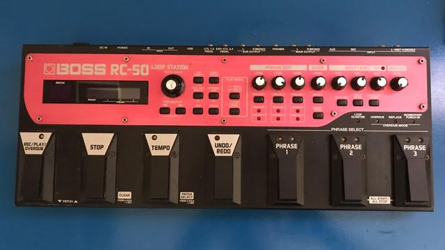Boss rc 50 loopstation triplo