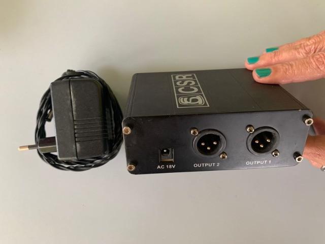 Phantom power 2 canais p/ microfone
