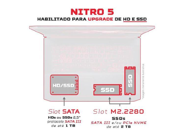 Notebook Gamer Acer Aspire Nitro 5 AN515-44-R11B AMD Ryzen 7