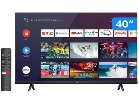 "Smart TV 40"" Full HD LED TCL S615 VA 60Hz - Android Wi-Fi"