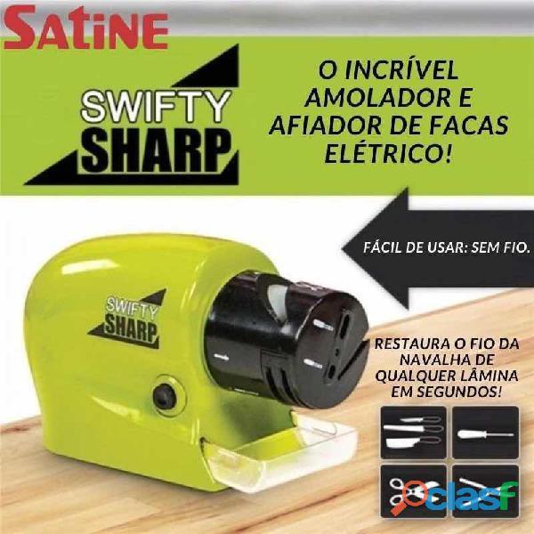 Amolador e Afiador de Facas e Tesouras Elétrico Automático Swifty Sharp Amolar e Afiar Facas Nunca 1