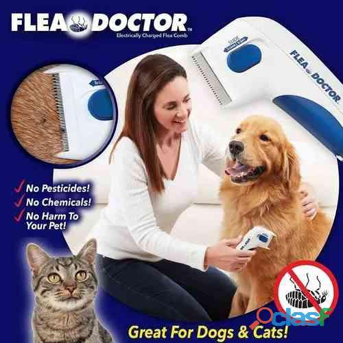 Pente Elétrico Anti Pulgas Carrapatos e Parasitas P/ Cachorro e Gato Flea Doctor Alguns parasitas p