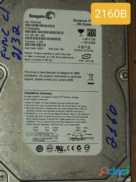 Placa Logica hd 750 Gb St3750640ns   Fw. 3.cnk   Cod. 2160b