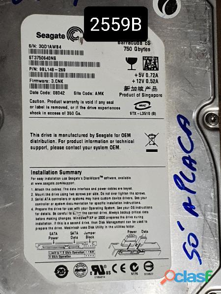 Placa Logica Hd 750 Gb St3750640ns   Fw: 3.cnk   Cod. 2559b