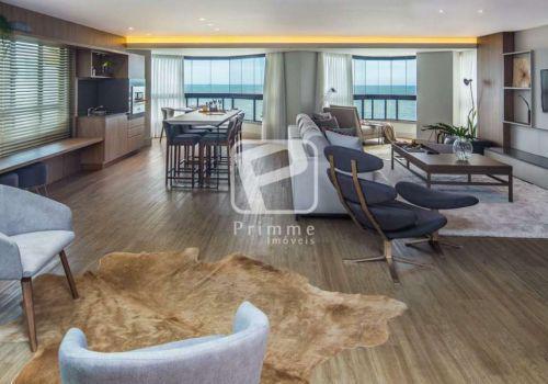 Apartamento frente mar 4 suites mobiliado, centro, balneario