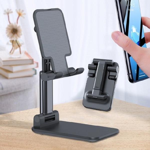 Suporte metal de mesa p/ ipad iphone celular rock ajustável