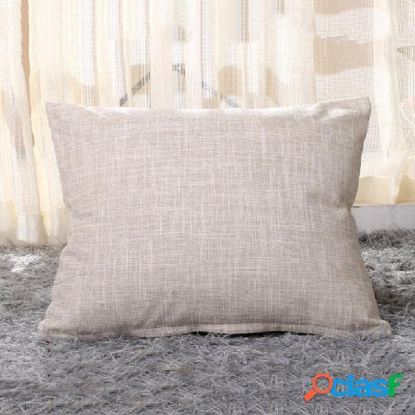 1 pc 45 * 45cm capa de almofada de linho simples capa de almofada fronha soild padrão para suprimentos de carro em casa