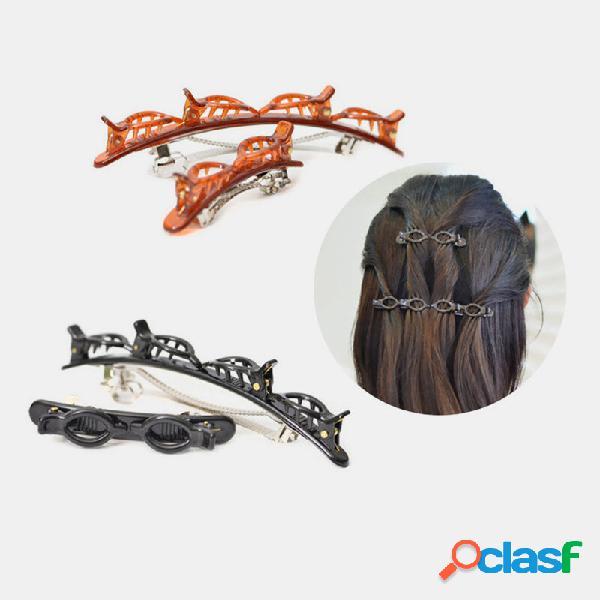 Braided cabelo clip bangs cabelopin twist cabelo styling clip para uso doméstico faça você mesmo cabelo ferramenta de mo
