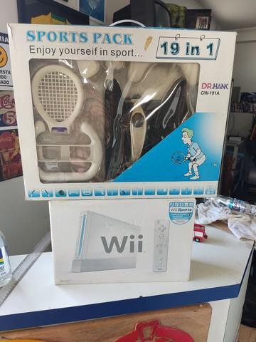 Nintendo wii na caixa completo desblo.