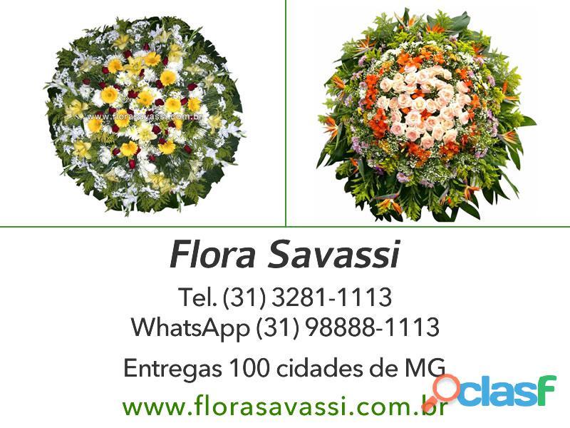 Floricultura Coroa de flores cemitério Parque Jardim do Eden Conselheiro Lafaiete MG entrega coroa